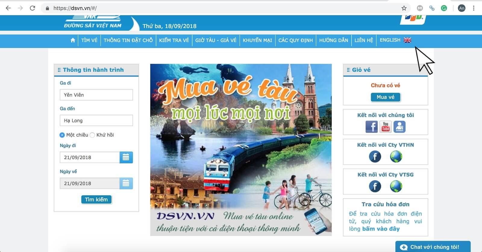 Comment réserver le billet du train de Hanoi à la baie d'Halong