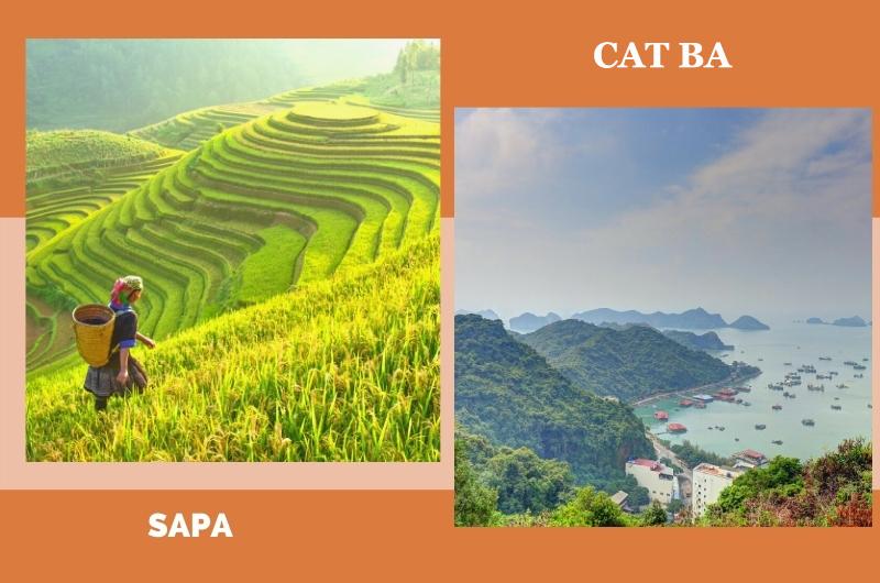 Meilleur itinéraire de Sapa et Cat Ba