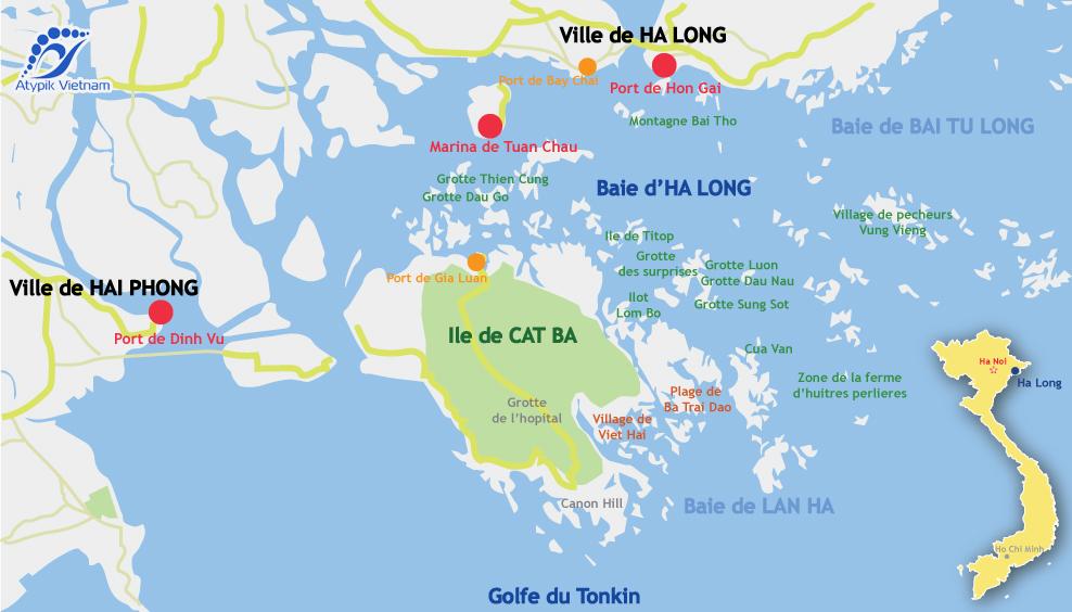 carte baie d'halong