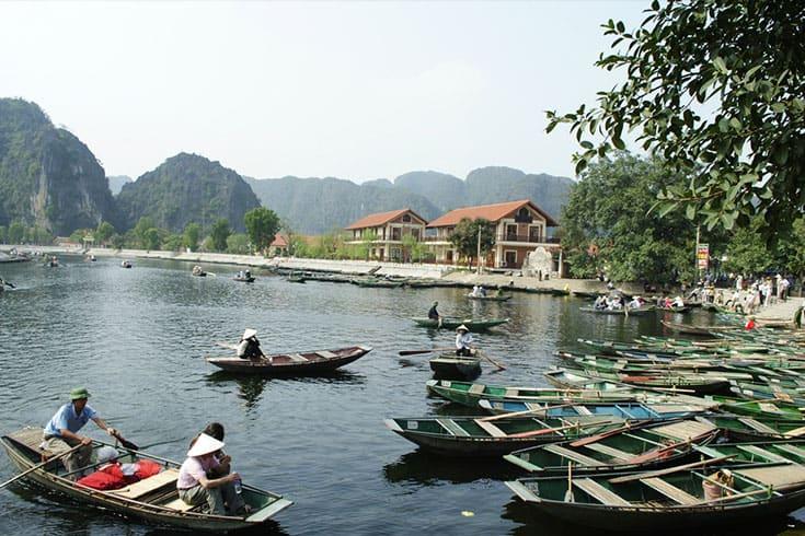 Embarquement au quai de Tam Coc