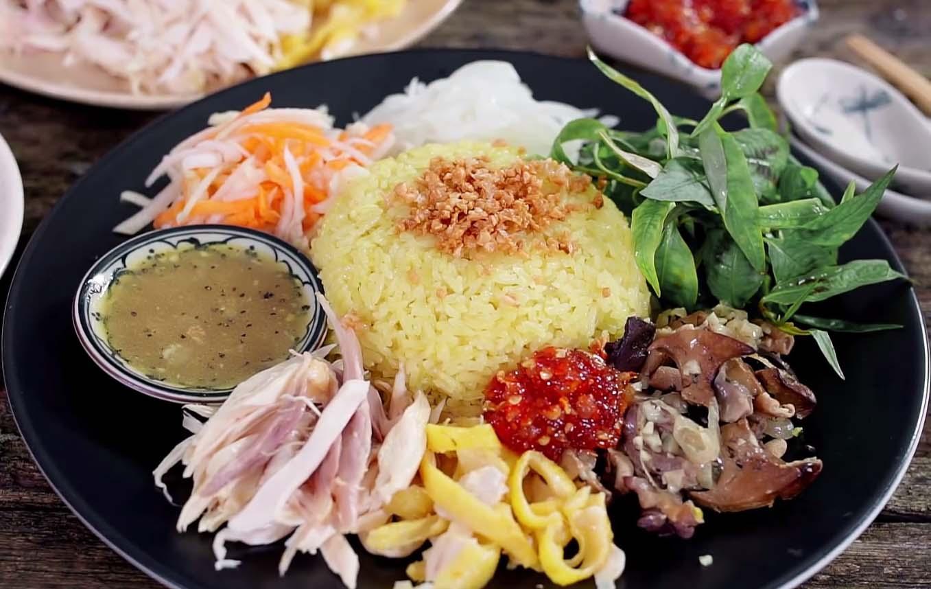 Essayez le riz au poulet de Hoi An