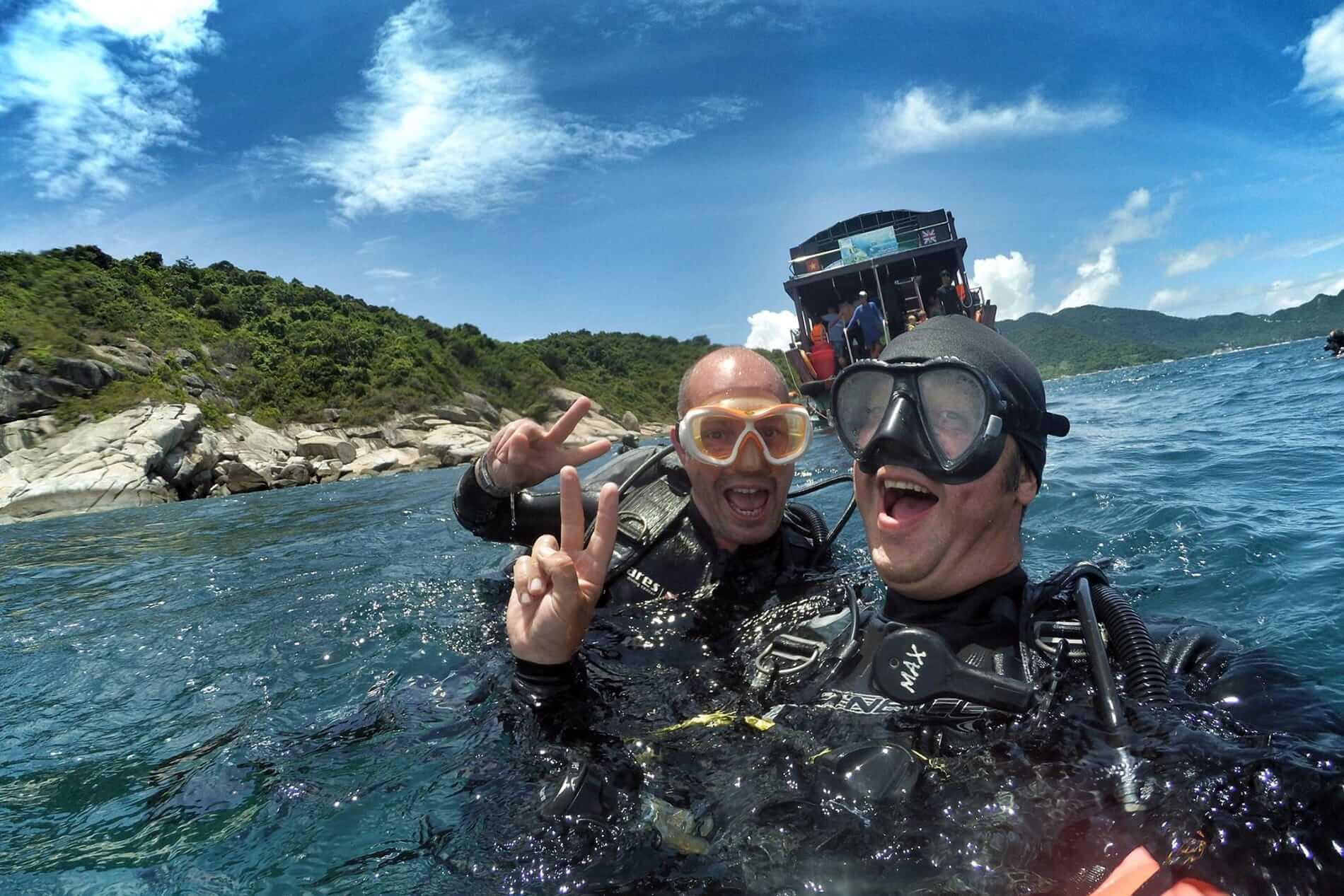 Plongée sous-marine sur l'île de Cham