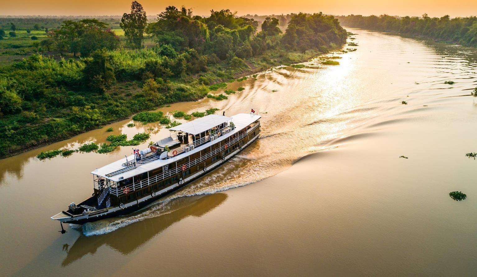 Croisière sur le Mékong à bord du bateau
