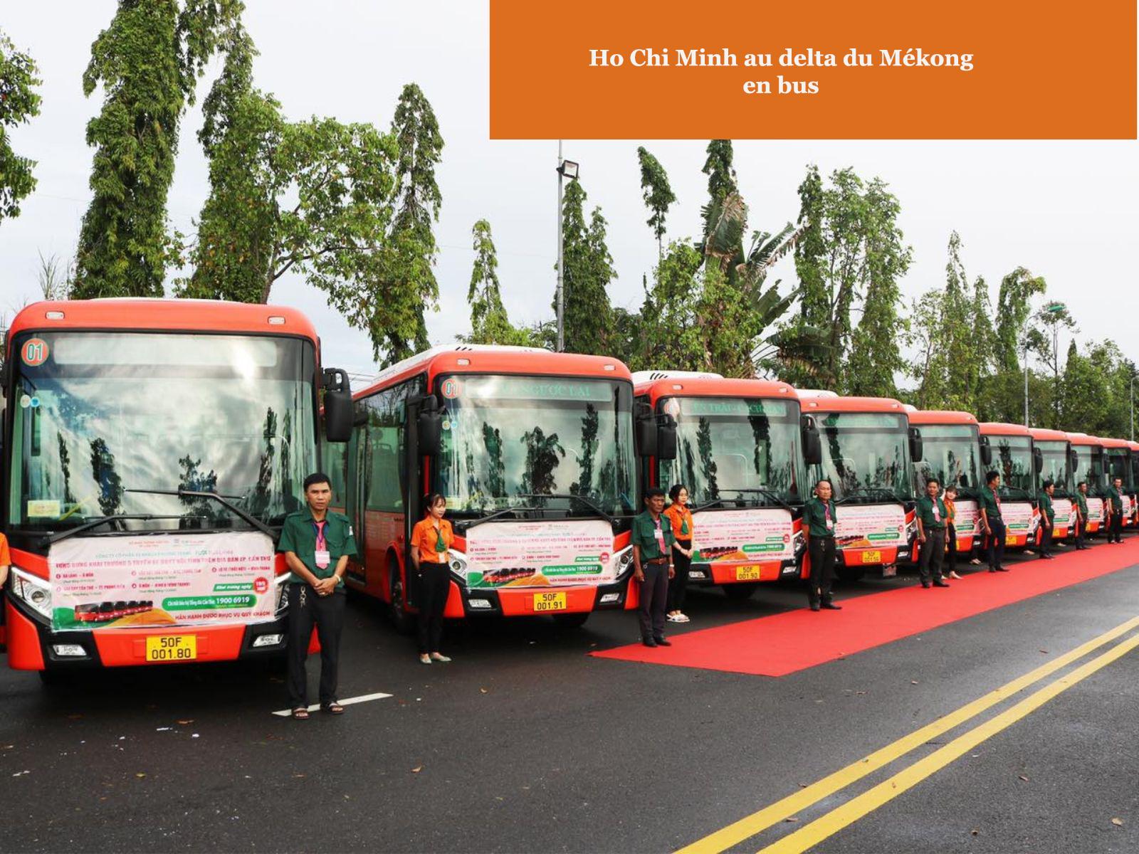 En bus de Ho Chi Minh au delta du Mékong
