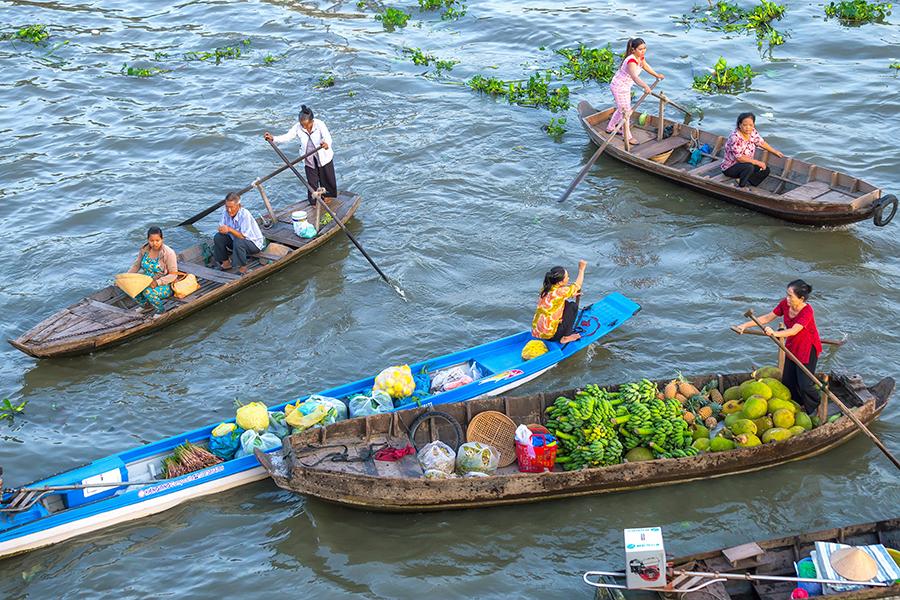 Le meilleur moment pour visiter le marché flottant de Cai Be