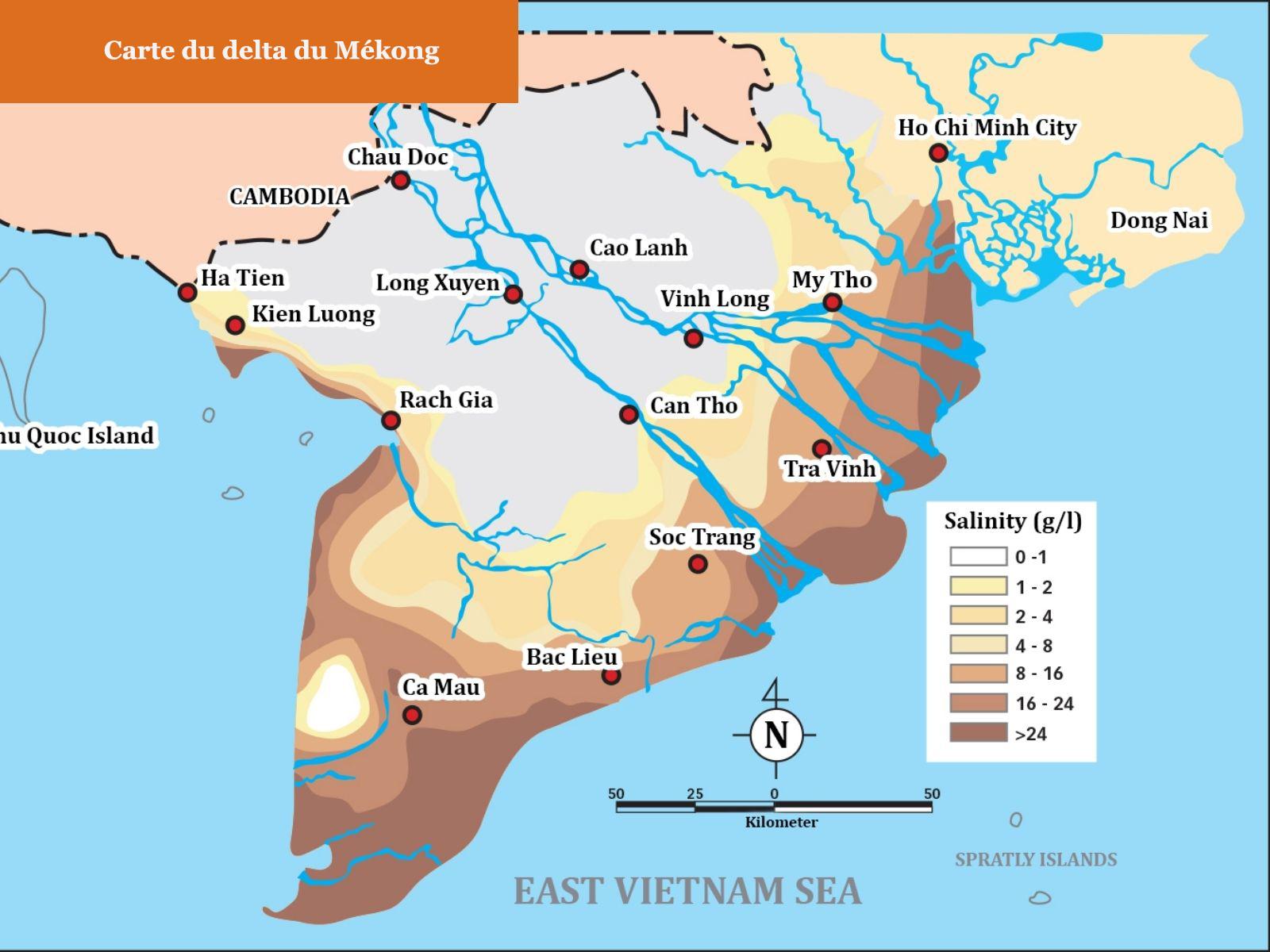 Où se trouvent Ho Chi Minh et le delta du Mékong