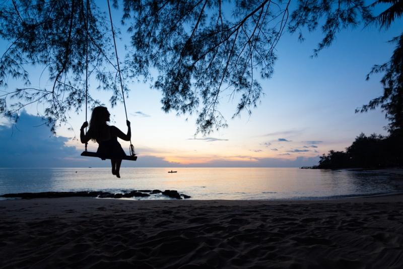 Regarder le coucher de soleil à Mango Bay