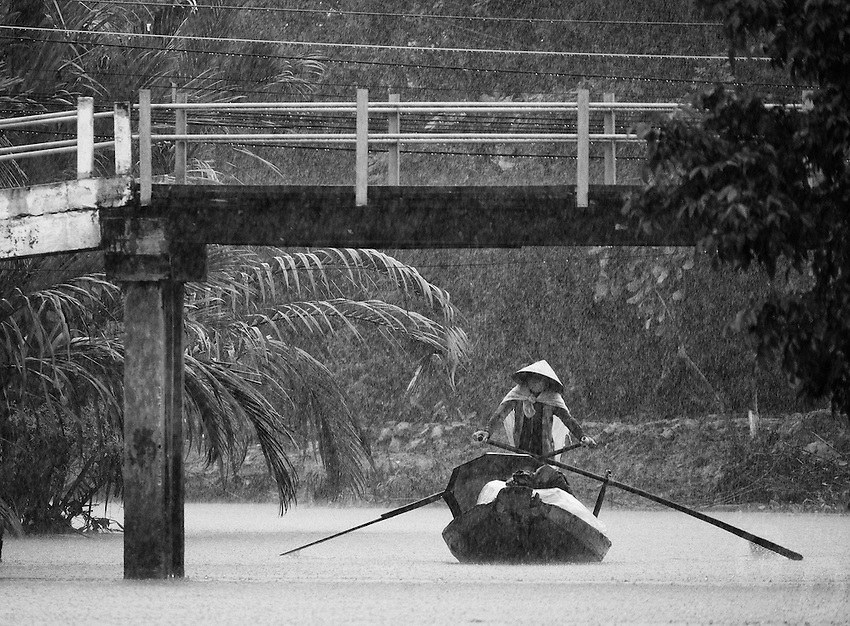 Saison des pluies dans le delta du Mékong