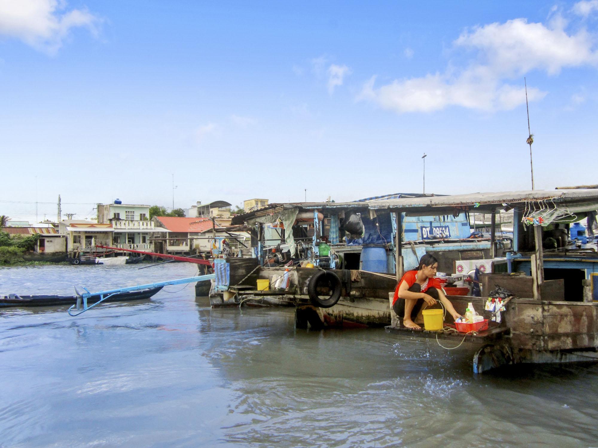 Saison sèche dans le delta du Mékong