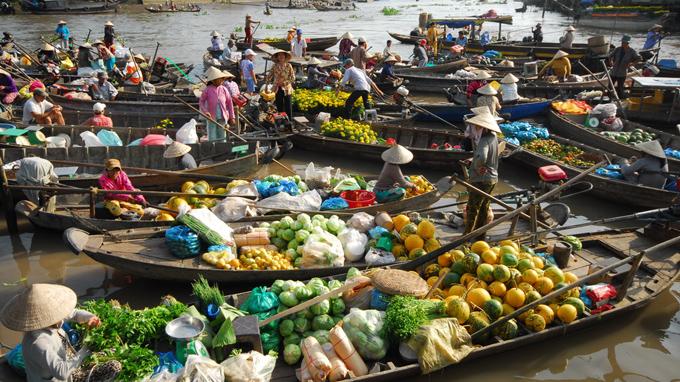 Visiter les marchés flottants delta du mekong