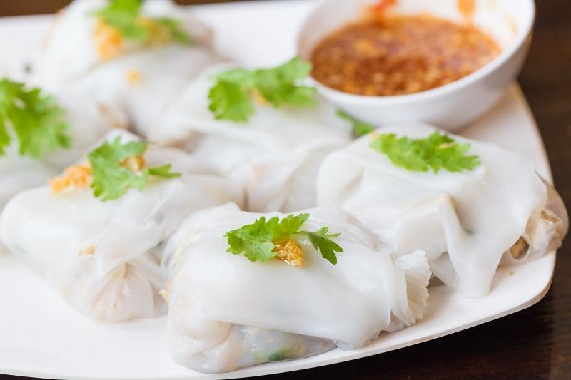 Banh Cuon Chay (rouleaux de printemps végétariens)