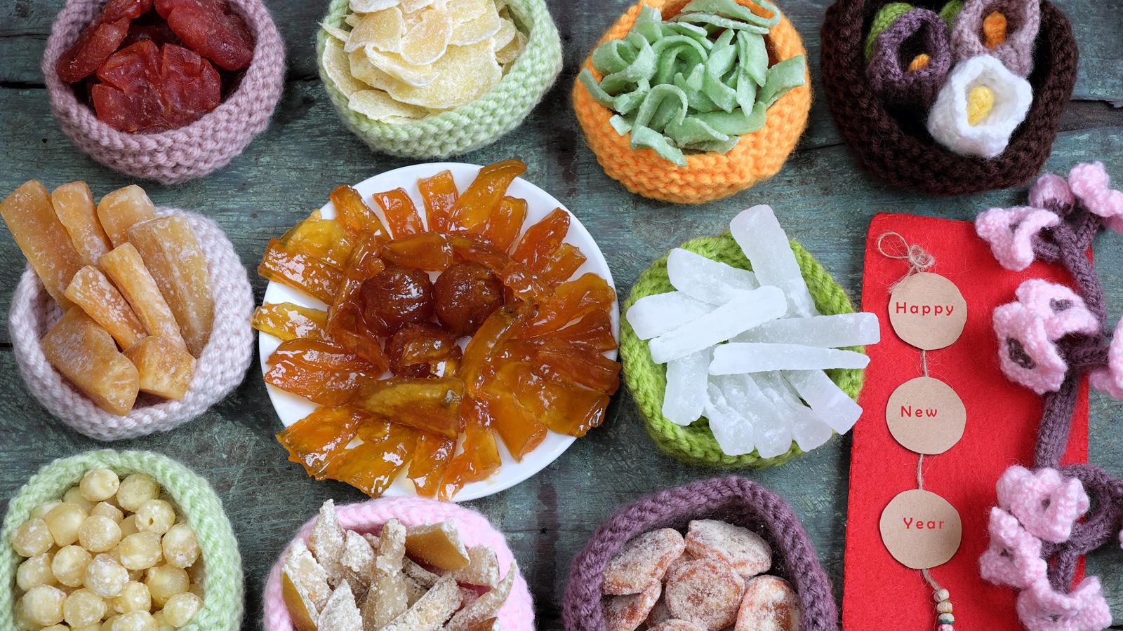 Collations sucrées traditionnelles pour la fête du Têt