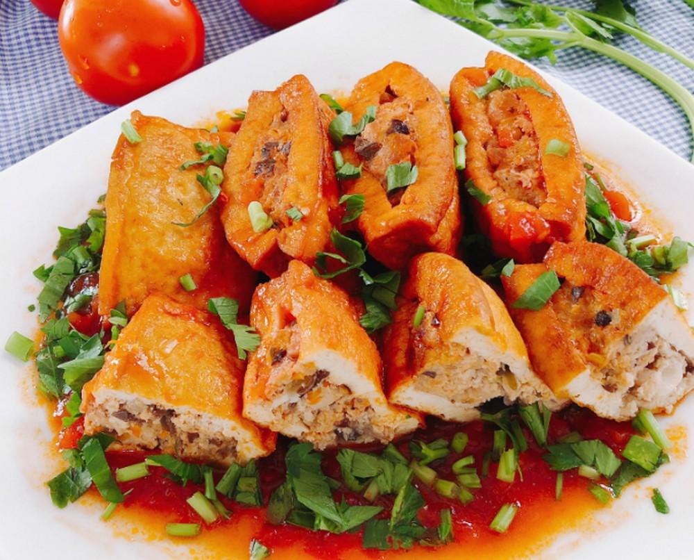 Dau Phu Sot Ca Chua - Tofu à la sauce tomate