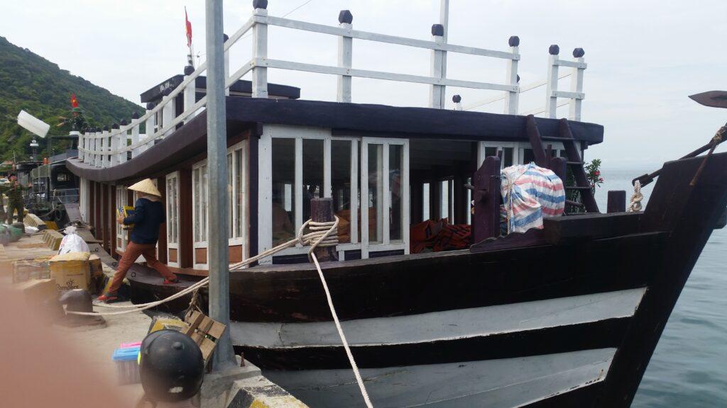 Ferry public de Hoi An à l'île de Cham Vietnam