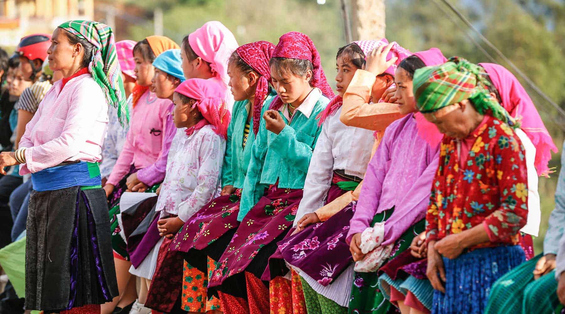 Fête et festival du marché de l'amour de Khau Vai