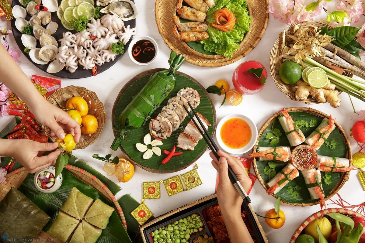 La nourriture traditionnelle de la fête du Têt au centre et au sud du Vietnam