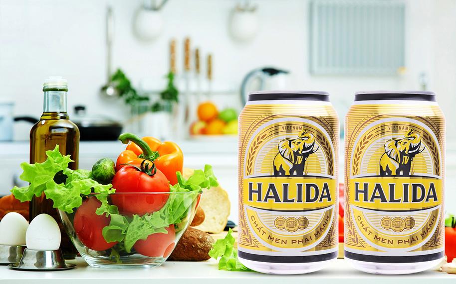 Prix d'une bière Halida au Vietnam