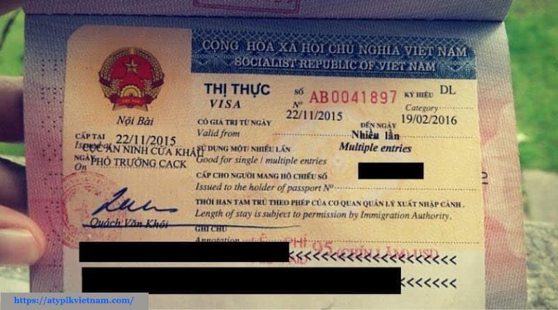 Tampon visa Vietnam