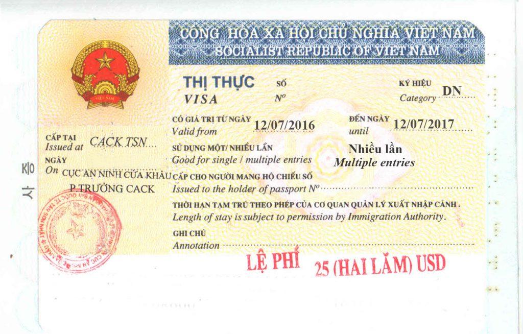 Visa d'affaires au Vietnam - Vietnam Business Visa