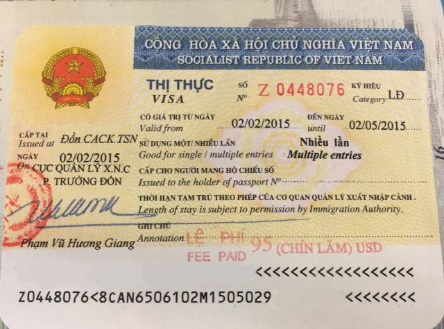 Visa de travail au Vietnam