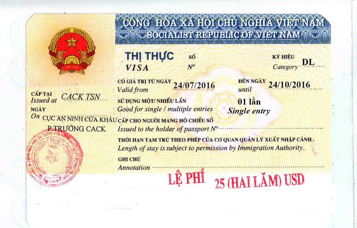 Visa touristique Vietnam