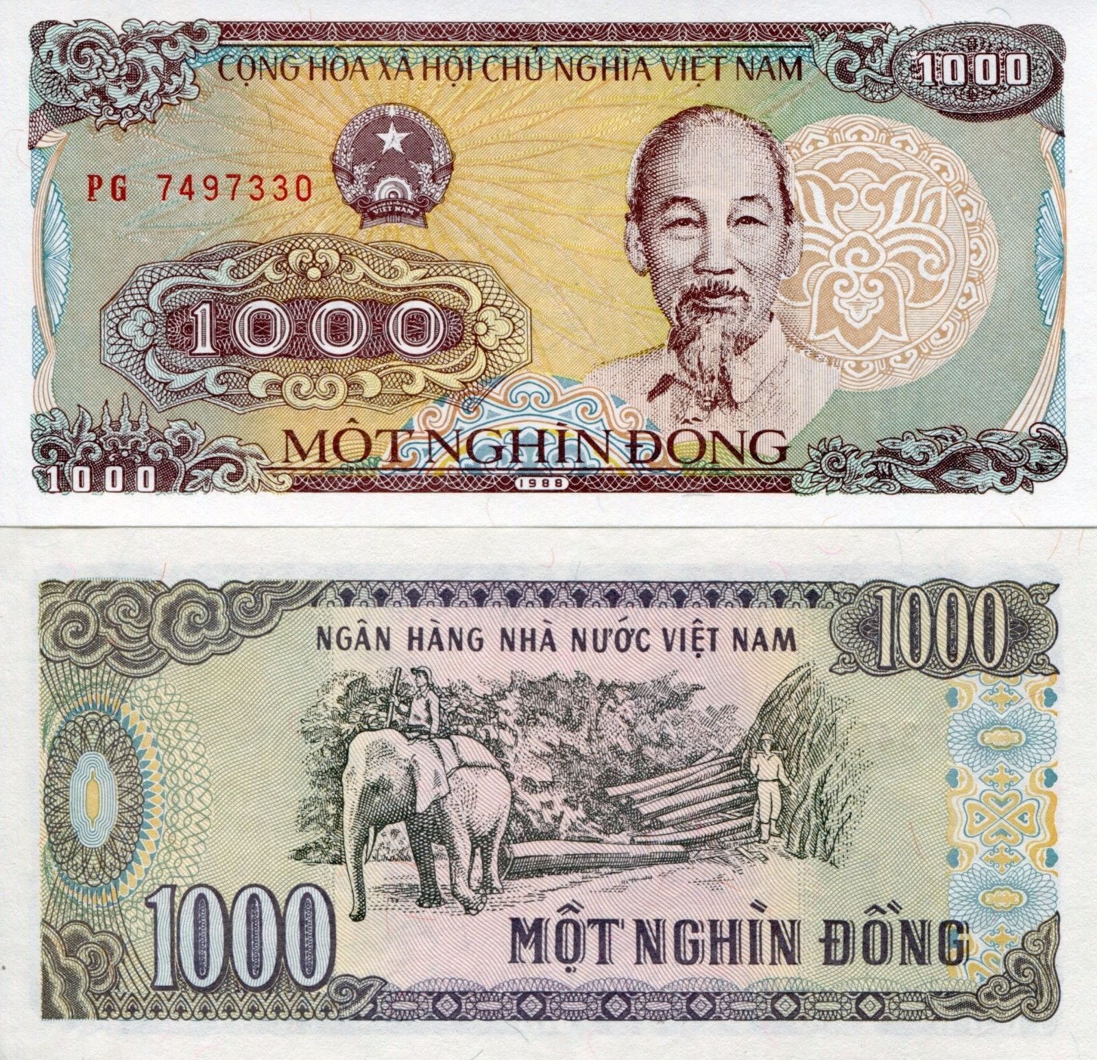 billet de 1 000 dong