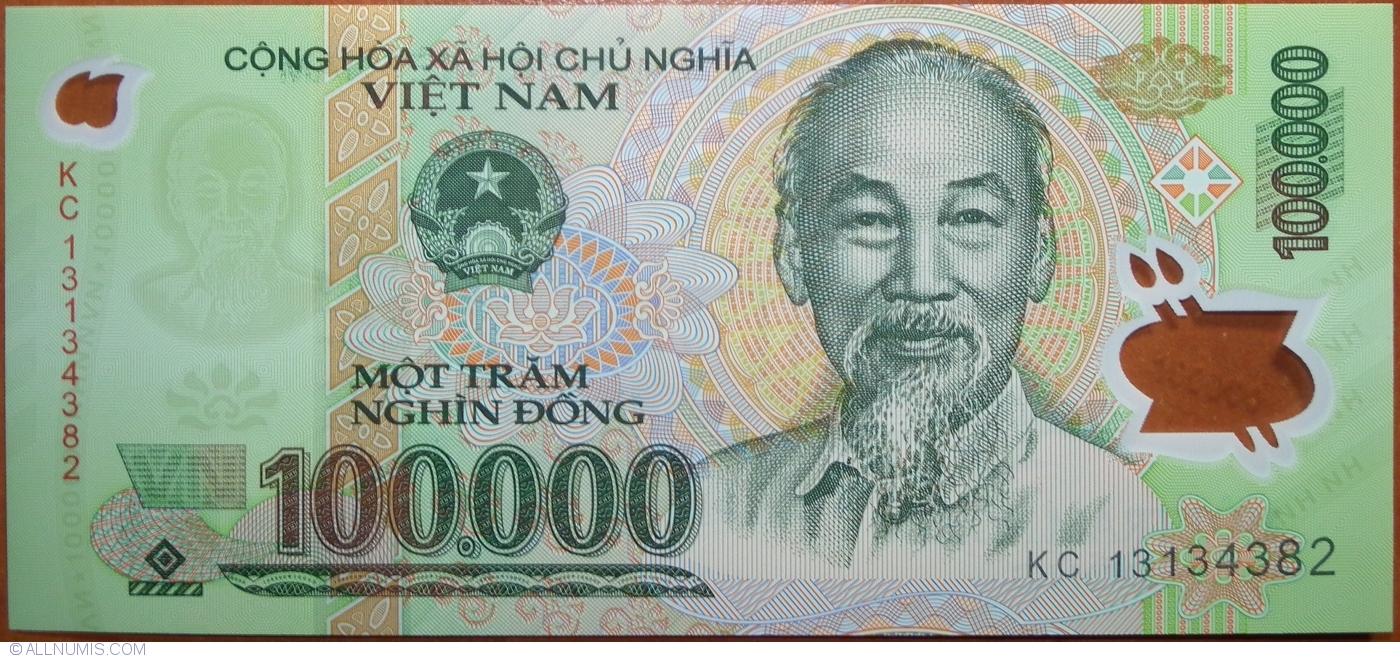 billet de 100 000 dong