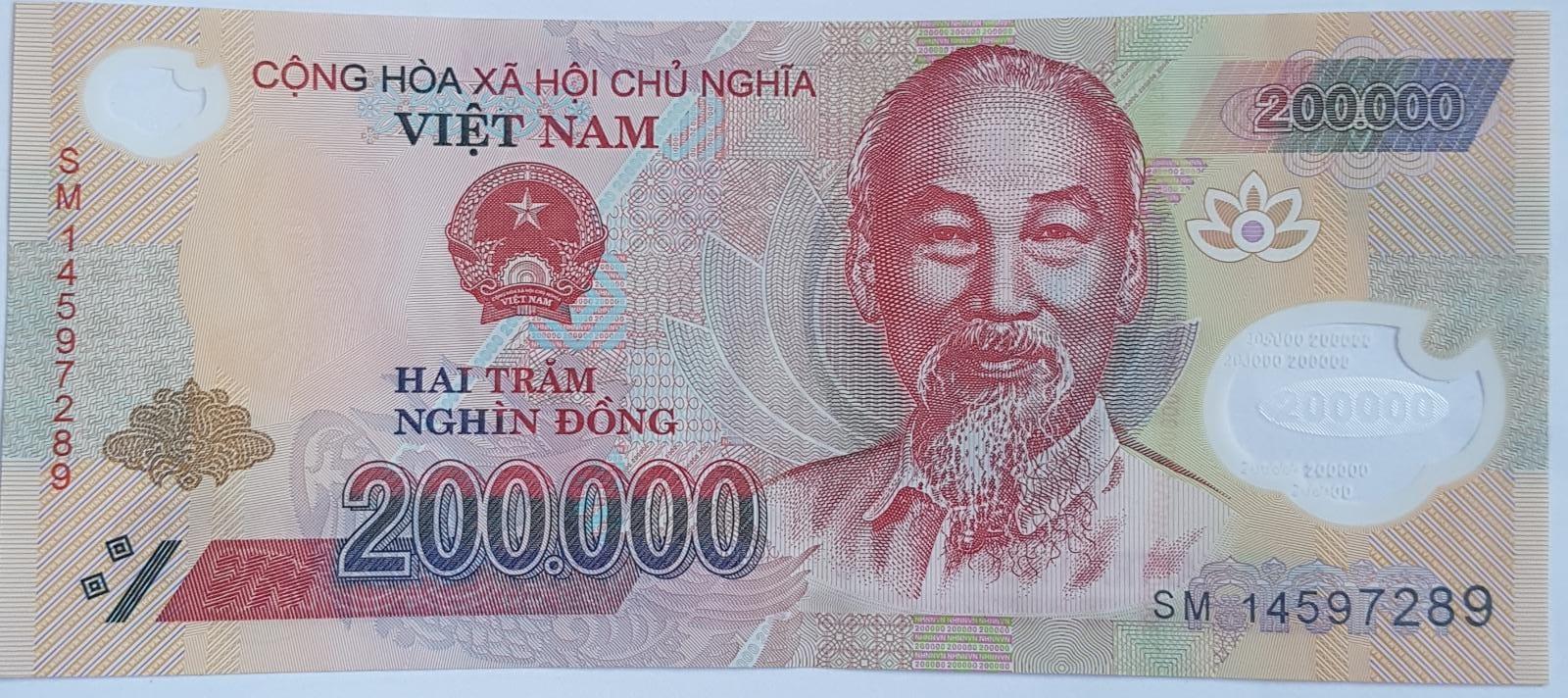 billet de 200 000 dong