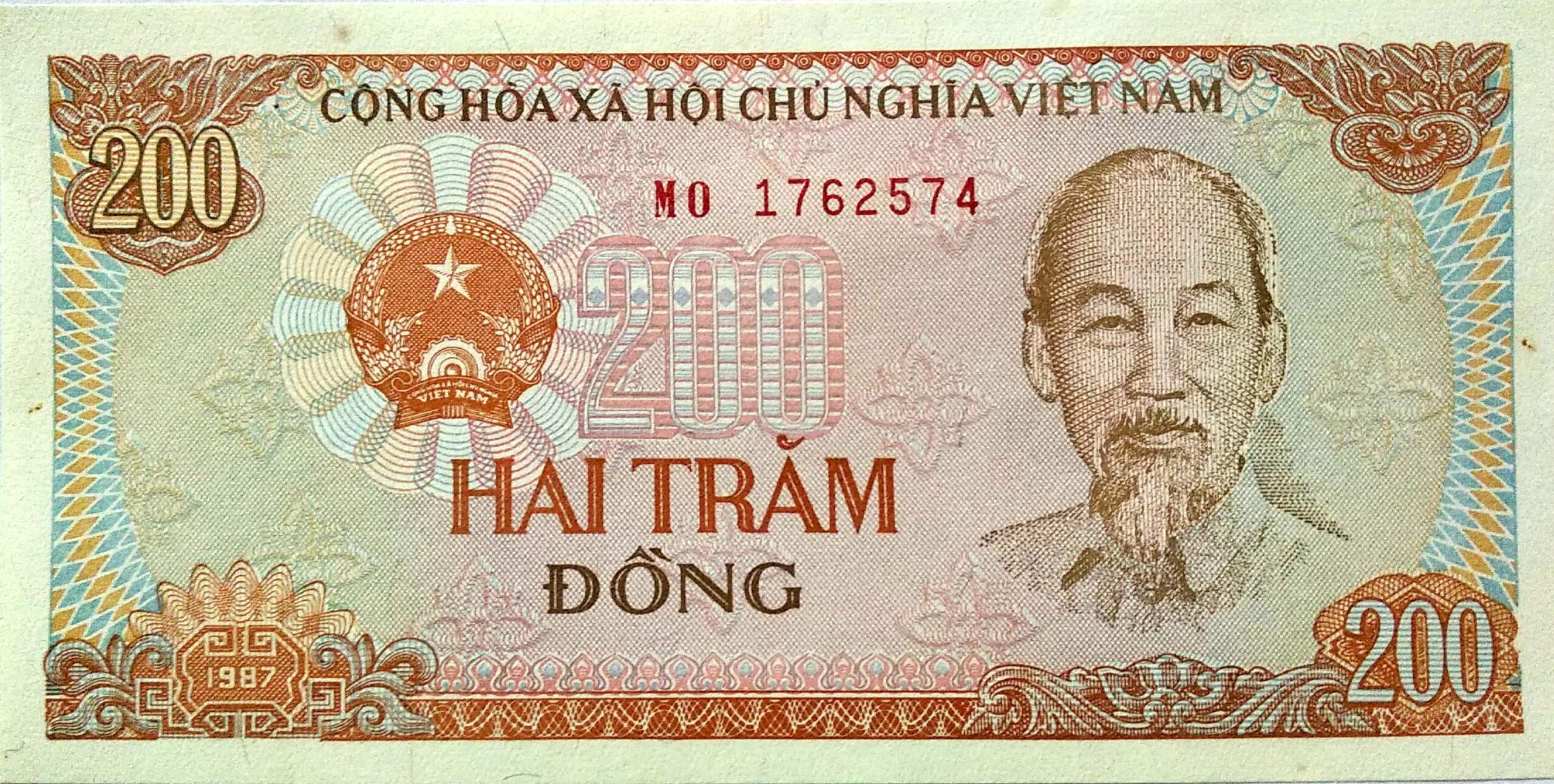 billet de 200 dong
