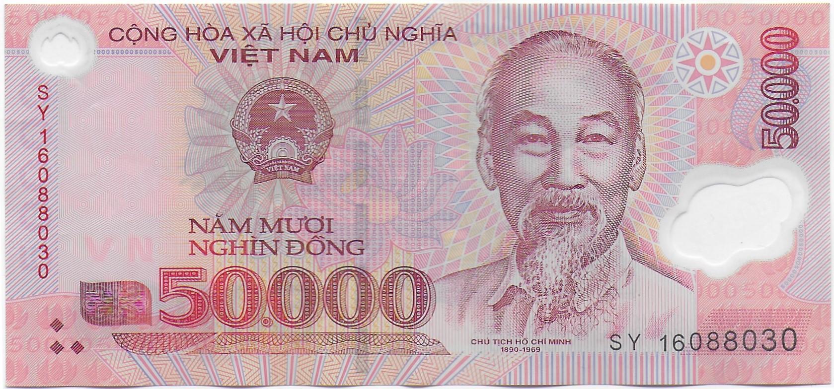 billet de 50 000 dong