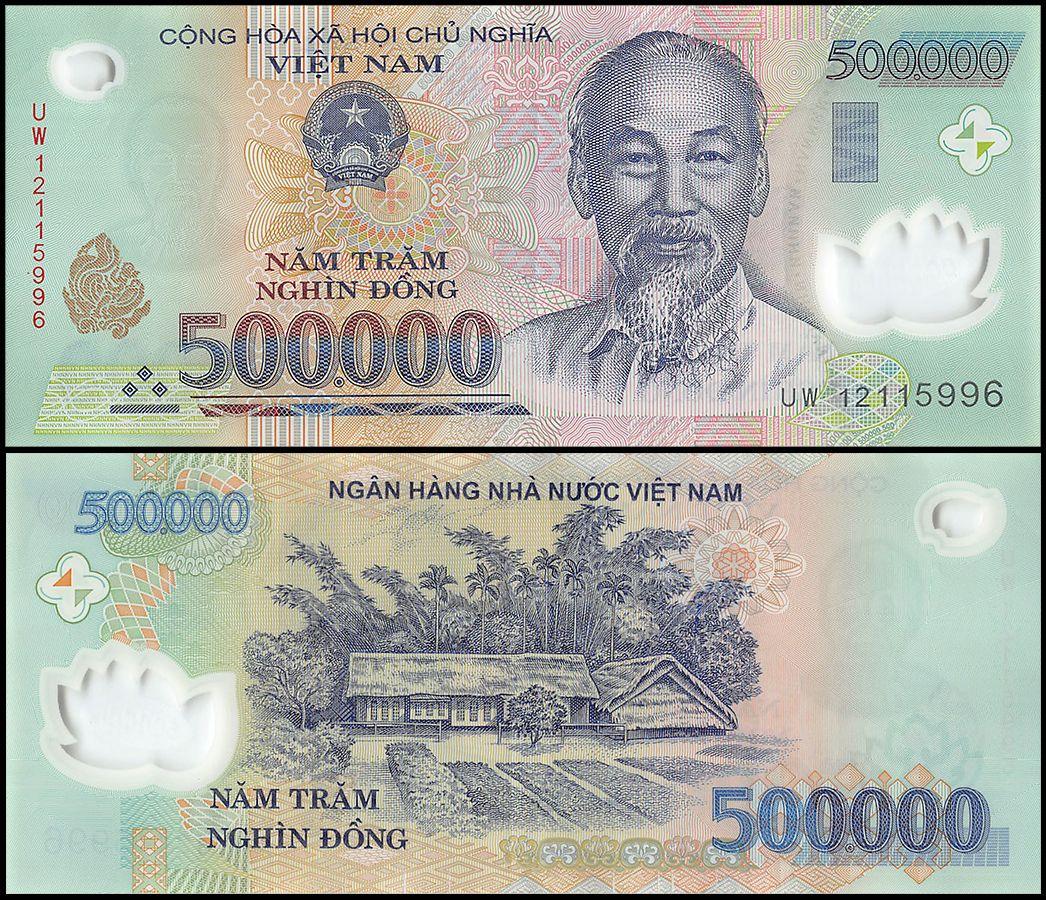 billet de 500 000 dong