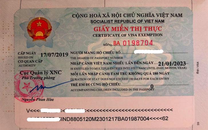 exemption visa vietnam 2019