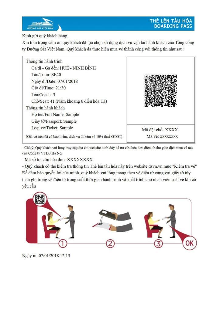 l'e-billet de train du Vietnam