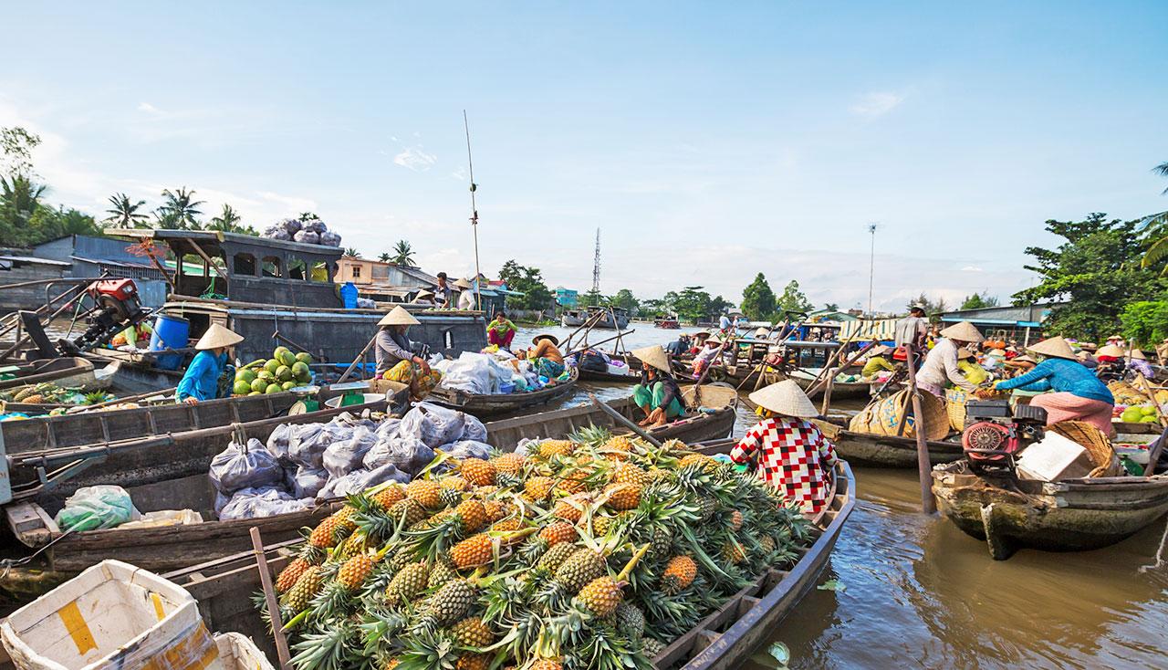 marché flottant vietnam