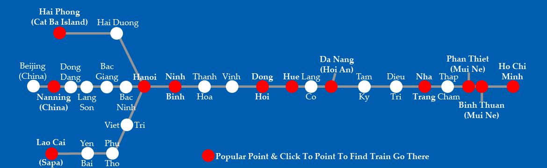 train vietnam carte
